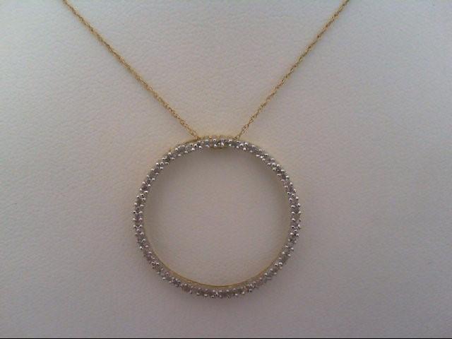 Gold-Multi-Diamond Pendant 54 Diamonds .270 Carat T.W. 14K Yellow Gold 2.3g