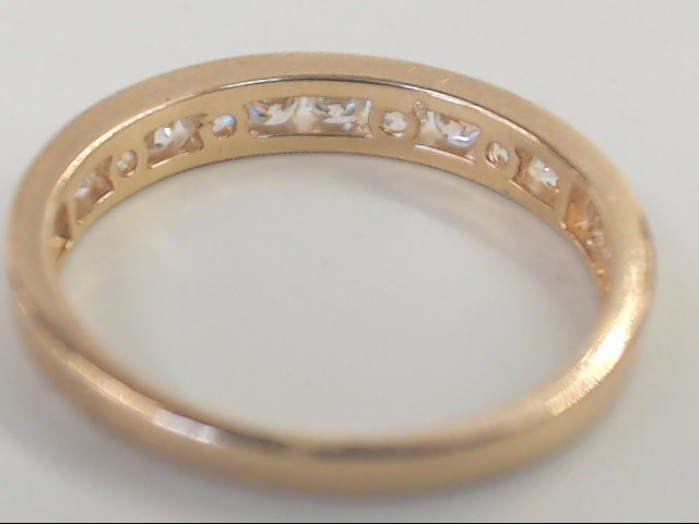 VINTAGE CHANNEL SET WED RING BAND SOLID REAL 14K YELLOW GOLD SIZE 6