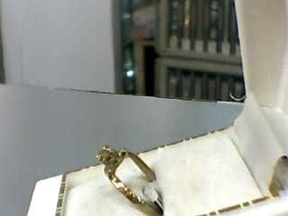 Synthetic Peridot Lady's Stone Ring 10K Yellow Gold 1dwt Size:6