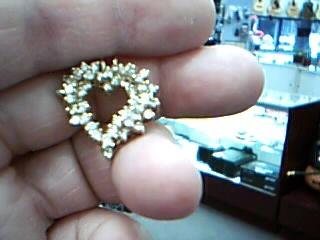 Gold-Multi-Diamond Pendant 50 Diamonds 2.50 Carat T.W. 10K Yellow Gold 5.5g