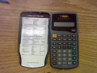 TEXAS INSTRUMENTS Calculator TI-30XA