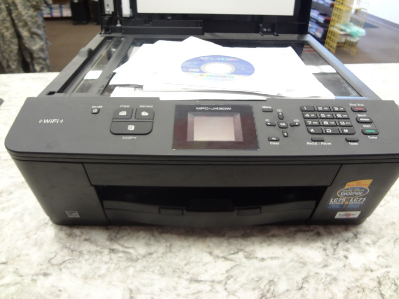 BROTHER MFC-J430W COLOR INKJET ALL-IN-ONE PRINTER WITH INSTALL CD AND MANUAL