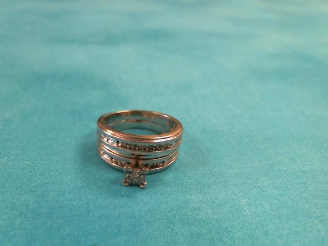 Lady's Diamond Wedding Set 19 Diamonds .95 Carat T.W. 10K White Gold 4.1dwt
