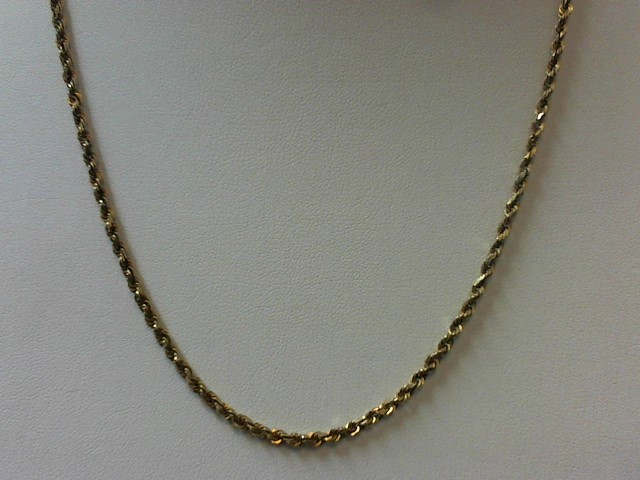 "22"" Gold Rope Chain 10K Yellow Gold 10.6g"