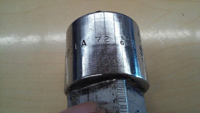 SNAP ON Sockets/Ratchet GLA72A
