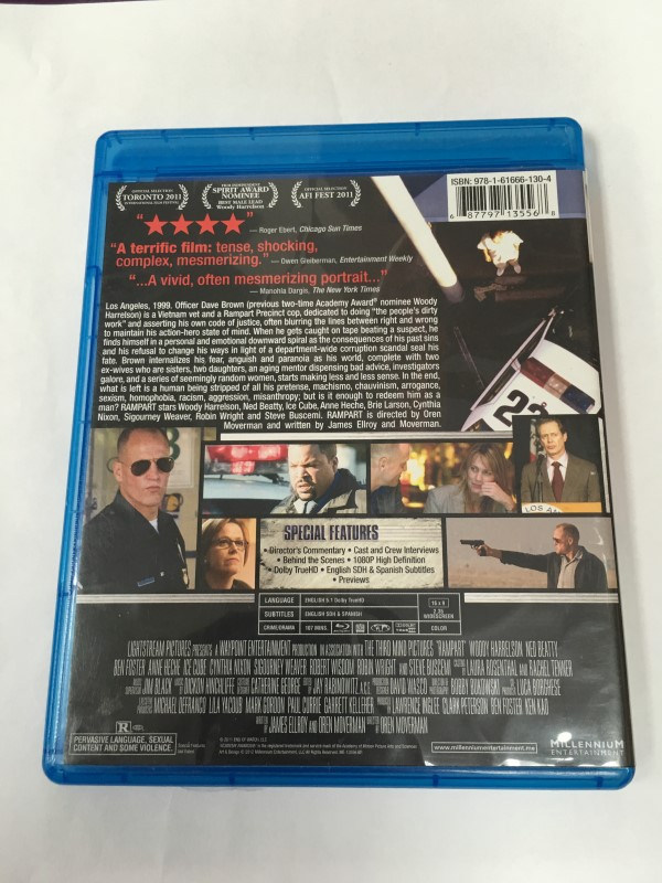 """RAMPART"" BLU RAY MOVIE (2011) WOODY HARRELSON."