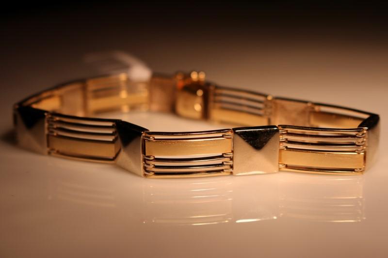 """16"""" Gold Fashion Bracelet 10K Yellow Gold 25.82g"""