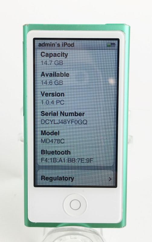APPLE IPOD NANO 7TH GENERATION GREEN 16GB MD478LL/A
