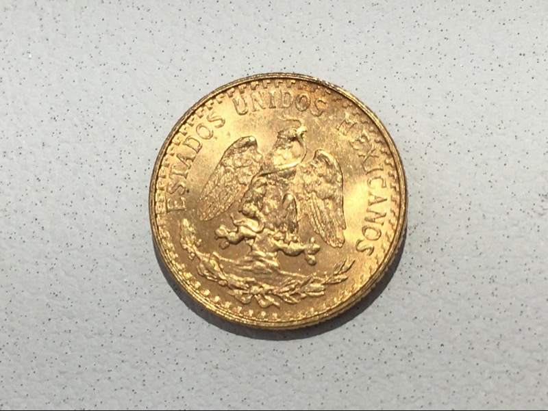 1945 Mexico Dos (Two) Pesos Gold Coin