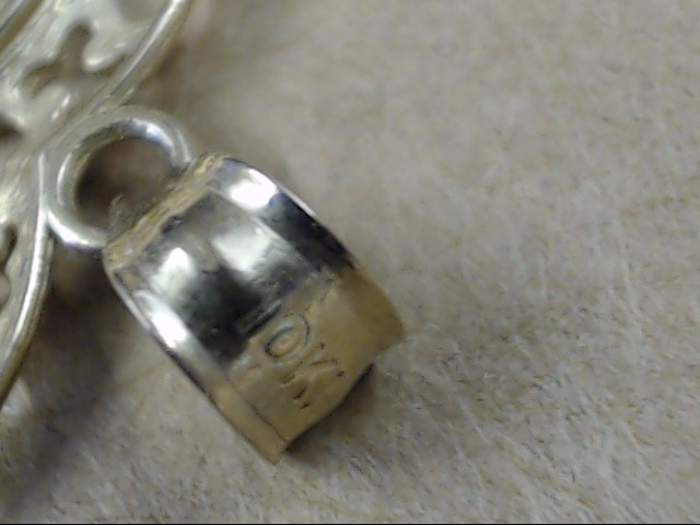 ESTATE HEART PENDANT CHARM SOLID REAL 10K GOLD I LOVE YOU WORDS 1.7g