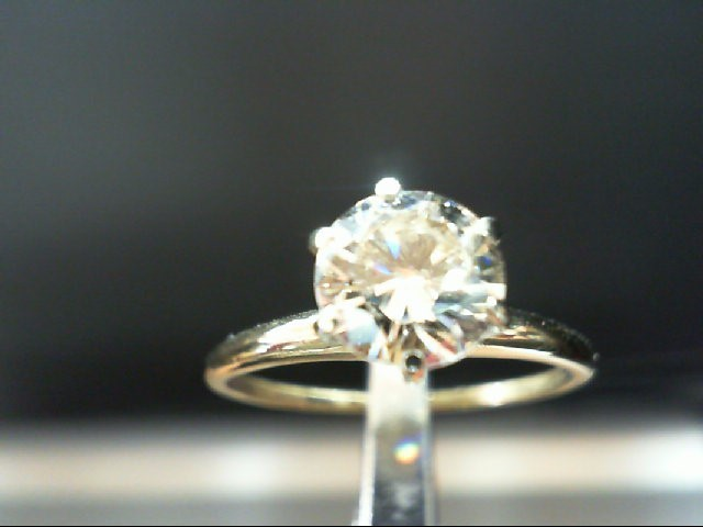 Lady's Diamond Engagement Ring 1.25 CT. 14K Yellow Gold 2.24g