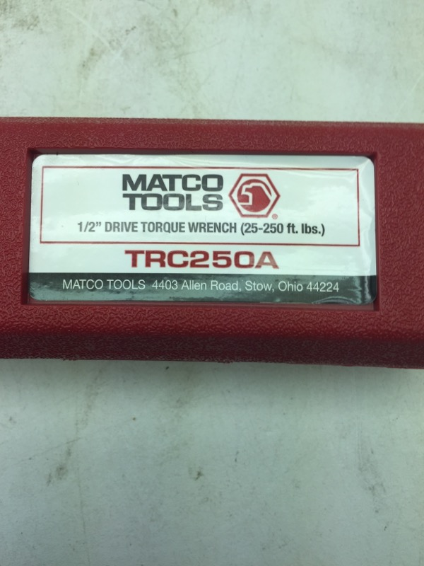Matco trc250a review