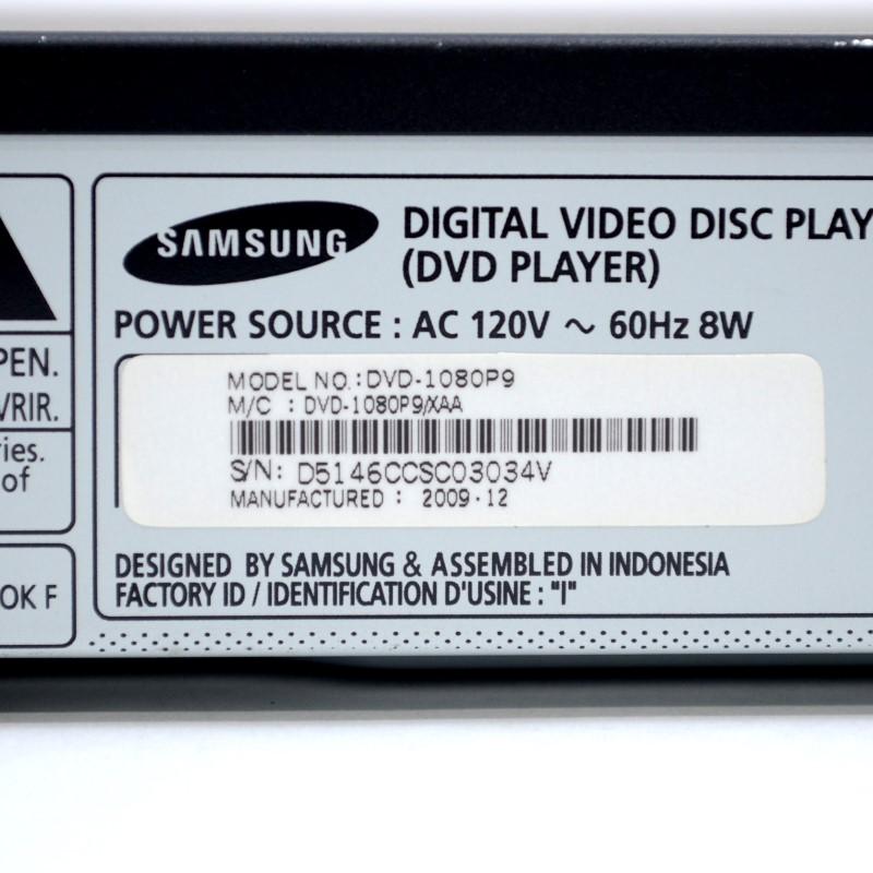 Samsung DVD Player DVD-1080P9 1080P HD HDMI Output DIVX No Remote>
