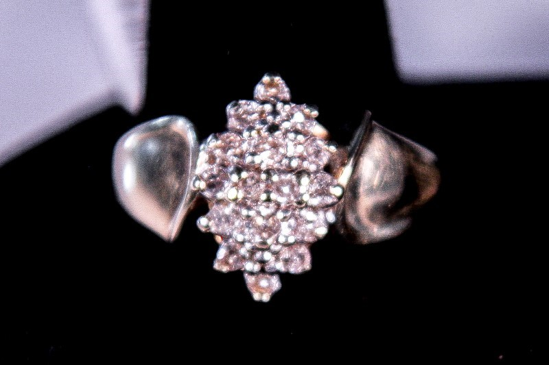 Lady's Diamond Cluster Ring 16 Diamonds 2.08 Carat T.W. 14K Yellow Gold 3.4g