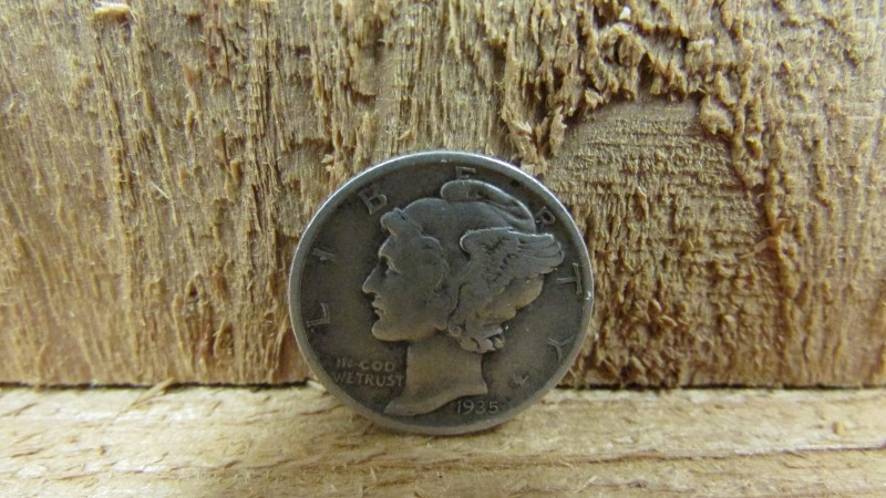 UNITED STATES Silver Coin 1935 MERCURY SILVER DIME