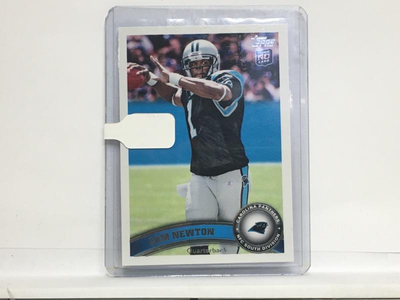 Topps 2011 Cam Newton #200 Blue Wall Variation Carolina Panthers Card