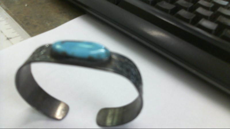 Synthetic Turquoise Silver-Stone Bracelet 925 Silver 17.1g
