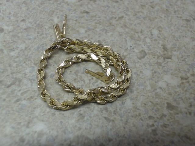 Gold Rope Bracelet 14K Yellow Gold 2.3g