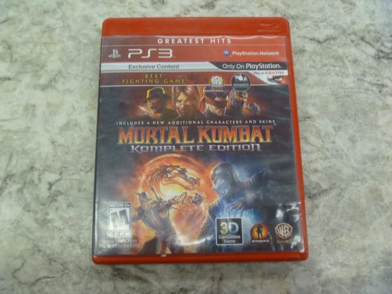 MORTAL KOMBAT KOMPLETE EDITION FOR PS3