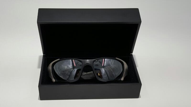 Oakley Pit Boss II OO9137-01 Polarized Iridium Round Sunglasses