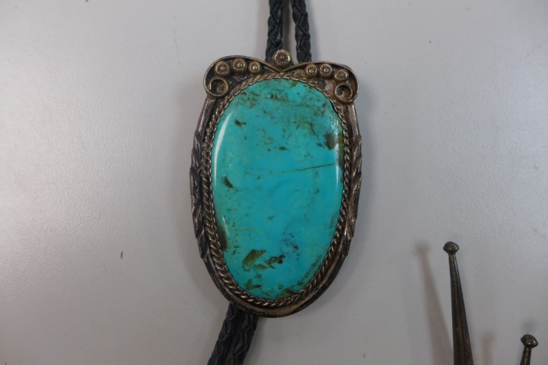 Synthetic Turquoise Silver-Stone Misc. 925 Silver 53.7g