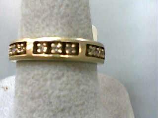 Lady's Diamond Wedding Band 9 Diamonds .18 Carat T.W. 14K Yellow Gold 2.2dwt