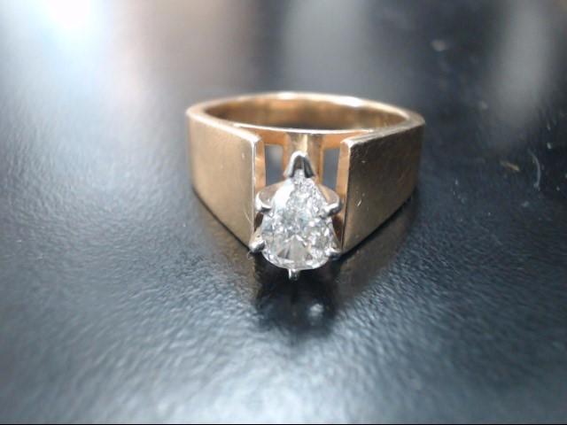 Lady's Diamond Solitaire Ring .50 CT. 14K Yellow Gold 7.3g