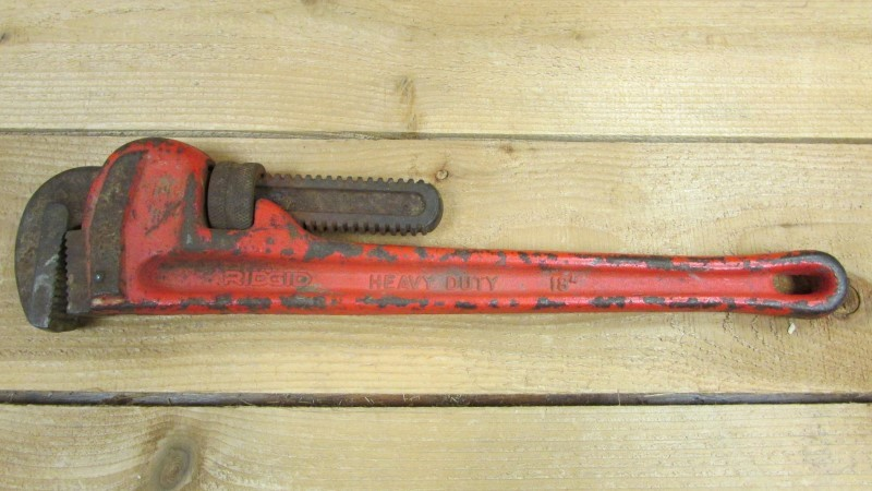 """RIDGID TOOLS Wrench 18"""" PIPE WRENCH"""
