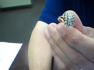 Lady's Diamond Cluster Ring 20 Diamonds 2.00 Carat T.W. 10K Yellow Gold 4.9g