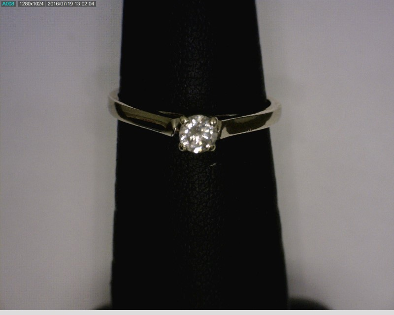 Lady's Diamond Solitaire Ring .22 CT. 14K White Gold 1.2dwt