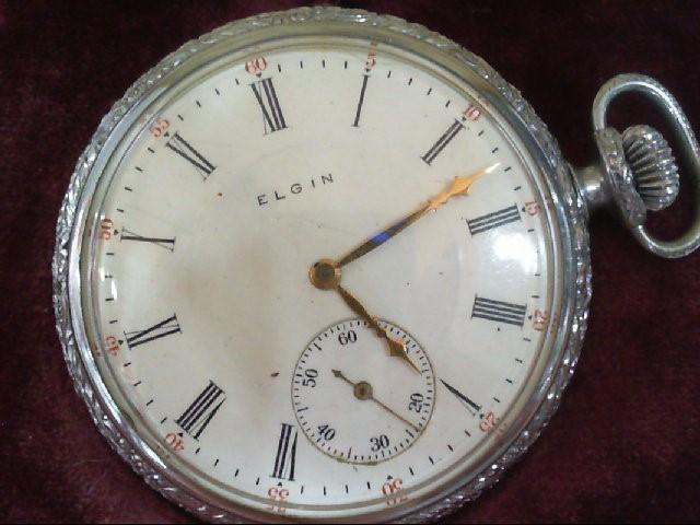 ELGIN FANCY FACE 17 JEWEL, 1909 POCKET WATCH SER#14698639