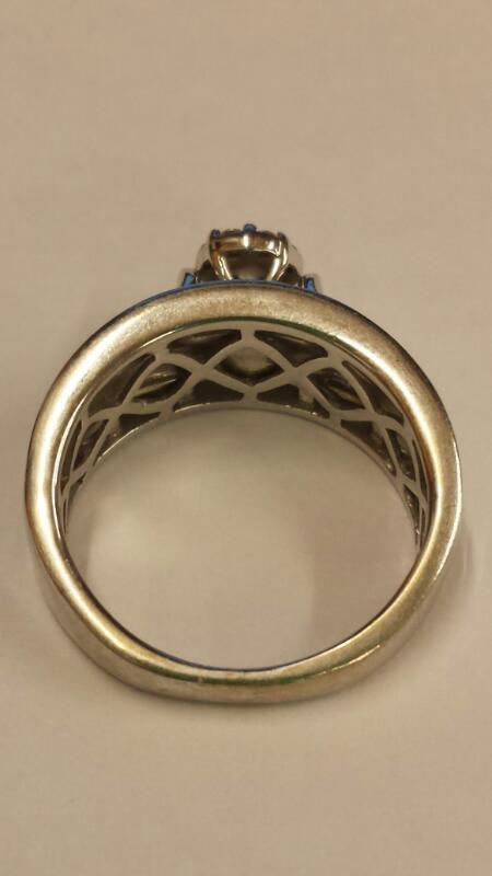 Lady's Diamond Cluster Ring 39 Diamonds .78 Carat T.W. 14K White Gold 3.86dwt