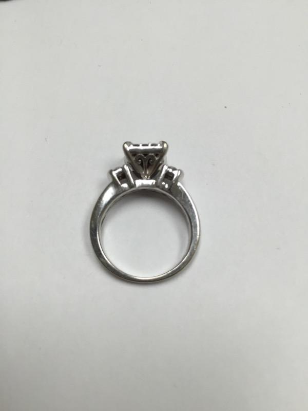 Lady's Diamond Engagement Ring 20 Diamonds .64 Carat T.W. 10K White Gold 3.1dwt