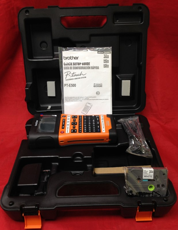 Brother Mobile PTE500 Handheld Labeling Tool, USB Interface, Li-ion, Auto Cut, C
