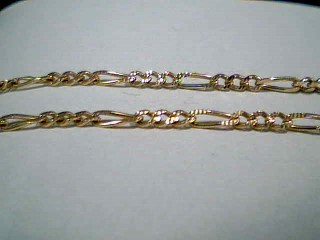 "18"" Gold Figaro Chain 14K Yellow Gold 4.9g"