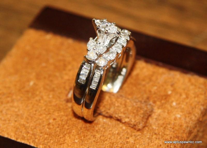 Lady's Diamond Wedding Set 29 Diamonds 1.86 Carat T.W. 14K White Gold 4.2dwt
