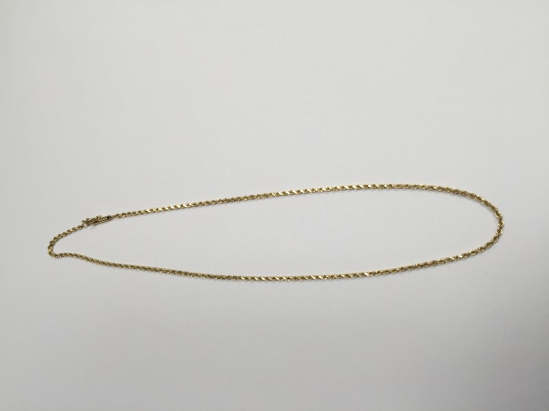"""16"""" Gold Rope Chain 14K Yellow Gold 5.5g"""
