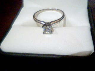Lady's Diamond Solitaire Ring .43 CT. 14K White Gold 1.9g