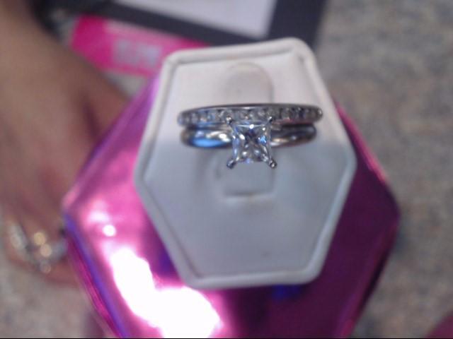 Lady's Diamond Wedding Set 13 Diamonds .71 Carat T.W. 14K White Gold 3.2dwt