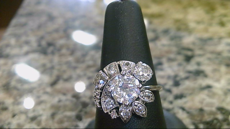 Diamond 10 Diamonds 2.82 Carat T.W. 14K White Gold 4.5g