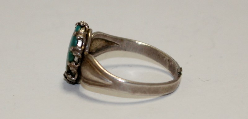 Lady's Silver Ring 925 Silver 2.86g Size:6