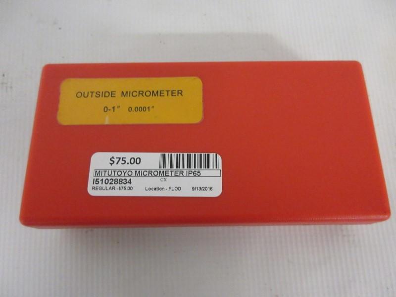 "MITUTOYO Micrometer IP65 0-1"" 0.001mm"