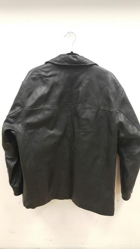 ST JOHNS BAY Coat/Jacket BLACK LEATHER JACKET