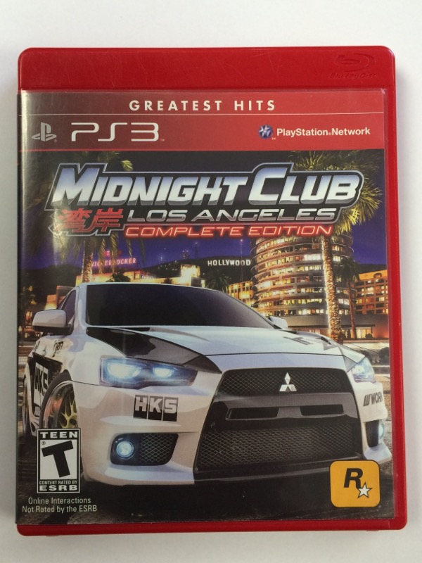 Midnight Club: Los Angelas - Complete Series (Sony PS3) Greatest Hits