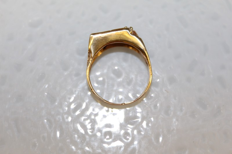 10K YG APX .06CT DIAMOND SZ.8 4.4MM