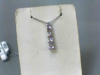 "18"" Diamond Necklace 5 Diamonds .50 Carat T.W. 14K White Gold 1.1dwt"