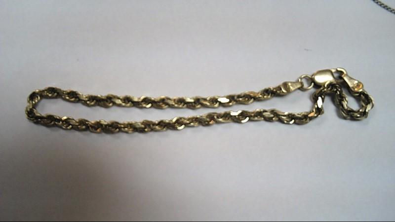 Gold Rope Bracelet 10K Yellow Gold 4.3g