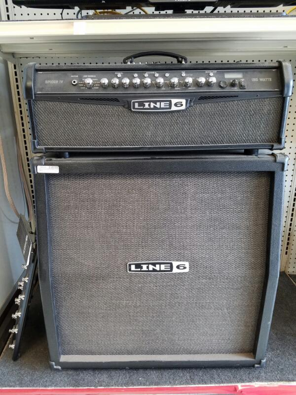 Line 6 Guitar Amp / 4x12 Stack - 150 Watts w/ Footswitch