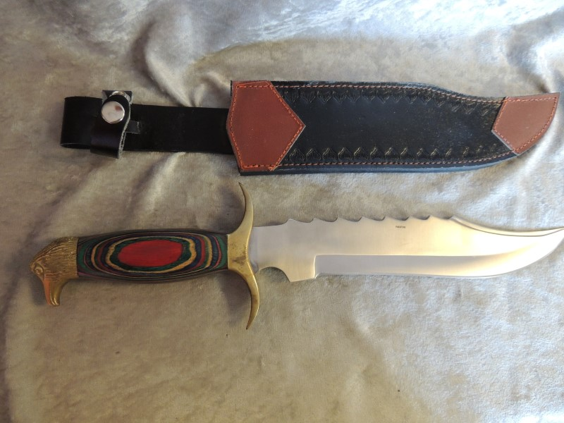 "WILDWOOD RASTA KNIFE 9"" +SHEATH"