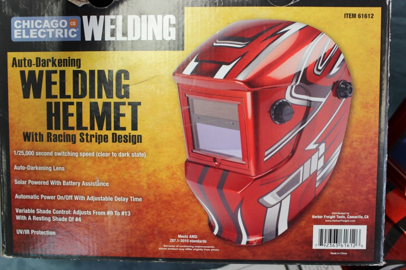 Chicago electric auto darkening welding helmet item